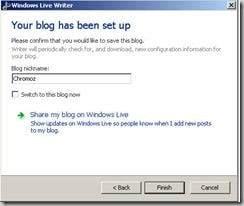 blog name windows live writer